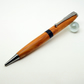 Centre twist ballpoint pen in English Yew with blackwood centre ring