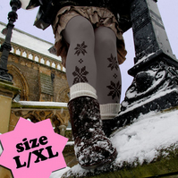 SALE: LargeExtra Large Festive Fair Isle - Grey and Black