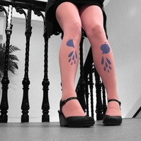 Tea Party Tights in Pink and Blue