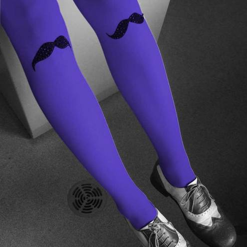 Mr Moustache Blue/Purple