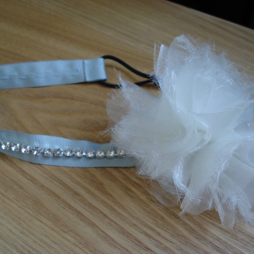 Sparkly Snow Cloud Headband/Hairband