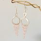 Sterling Silver Chandelier Earrings with Rose QuartzBeading