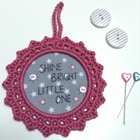 Shine Bright Little One Nursery Wall Decoration