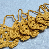 Golden Tree Crochet Garland