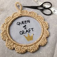 Queen of Craft wall decoration