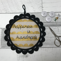 Happiness is Handmade Wall Decoration