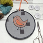 Satsuma Bird Hand Embroidered Hoop Art