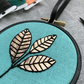 Copper Leaves Embroidery Hoop Art Wall Decoration