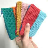 Bright Crochet Coin Purse