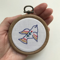 Bird of Hope Hand Embroidered Decoration