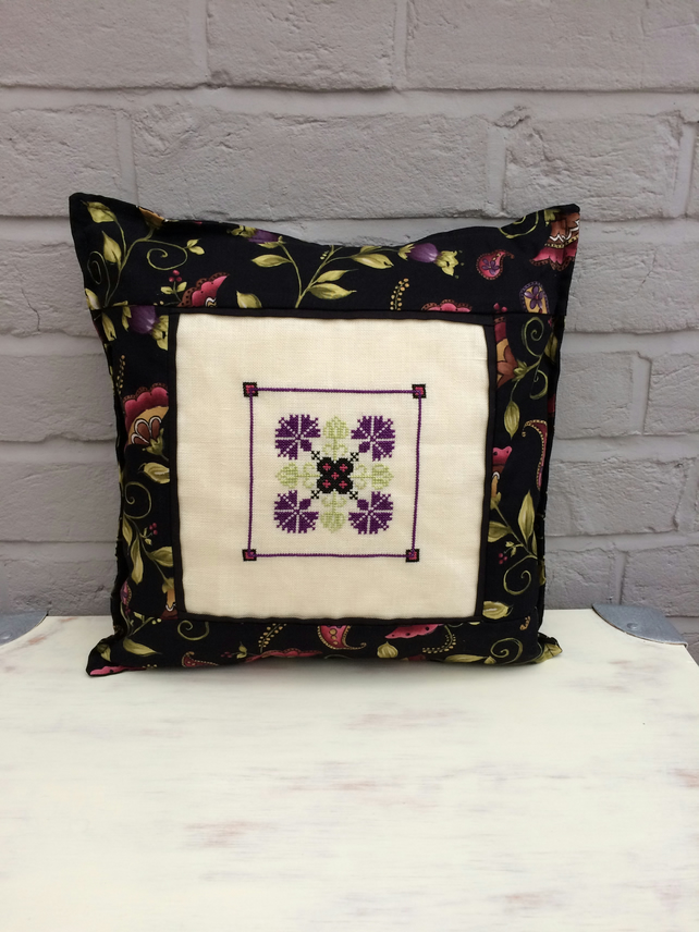 Cushion with Cross Stitch Panel
