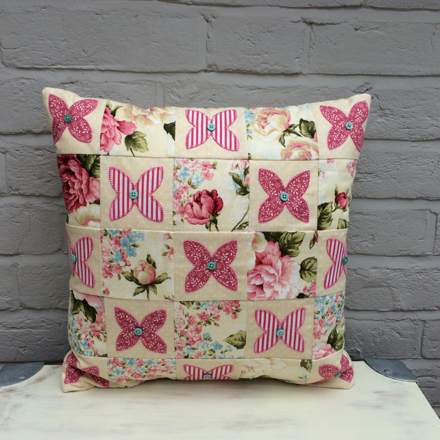 Patchwork Applique Cushion