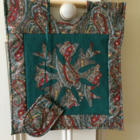 Applique Knitting or Needlework Bag