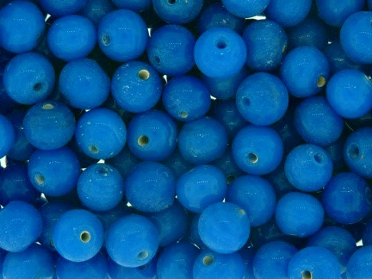 Mid Blue round glass beads 8mm Pack of 30 ideal for jewellery making