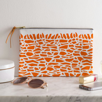Dry Stone Wall Leather Clutch