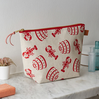 Lobster Pot Wash Bag Toiletries Cosmetics