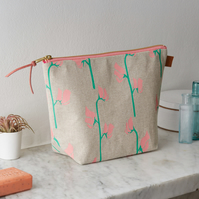 Sweet Peas Floral Botanical Wash Bag Cosmetics Toiletries
