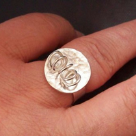 Spiral Ring size P Spring Ring  Sterling Silver
