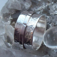 Silver Spinner Ring Size S for man or woman