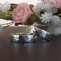 Handmade Wedding Ring Size V Heavy weight Sterling Silver