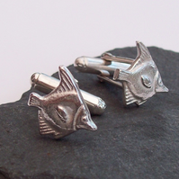 Handmade Tropical Fish Cufflinks Sterling Silver