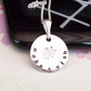 Make A Wish Necklace Sterling Silver Hand Stamped Pendant