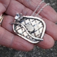 Decorative Hedgehog Pendant Sterling Silver, Trellis, Flower & Twig
