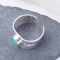 Turquoise Wide Sterling Silver Ring Adjustable December Birthstone Hallmarked