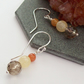 Quartz Earrings sterling silver , Depression , chakra , Crystal, Reiki Jewellery