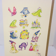 Witches, Wizards & Magic Greeting Card