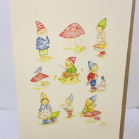 Gnome Birthday Card