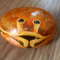 Crab hand painted on rock