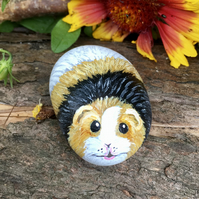 Guinea pig mini painted pebble rock pet