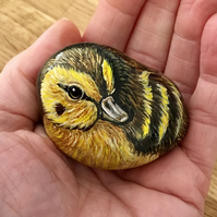 Duckling Painted pebble garden rock art wildlife stone gift