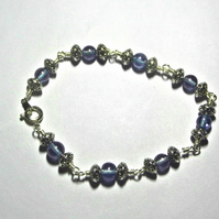 Princess Blue Rosary Bracelet