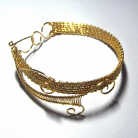 Golden Woven Bangle
