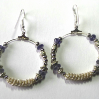 Bohemian earrings in blue