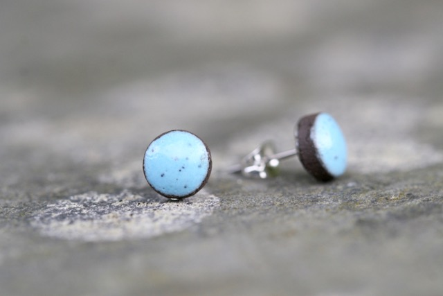Forget-me-not Ceramic Stud Earrings