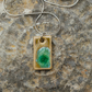 Ceramic and Recycled Glass Pendant on Sterling Silver Chain