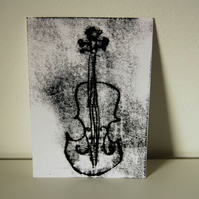 Violin Original Monoprint