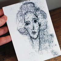 Portrait of a Lady Original Monoprint