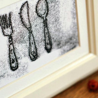 Cutlery Original Monoprint