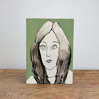 Original ACEO portrait of a face
