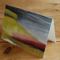 Stormy Hillside - greetings card