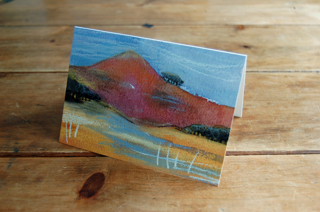 Red mountain - greeting card