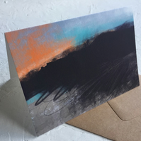 Moorland Sunset - greeting card