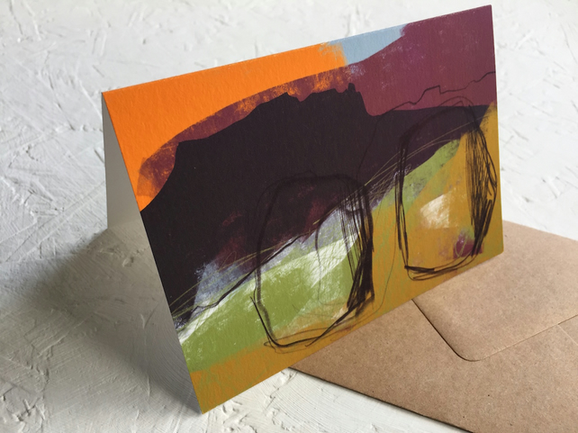 Peak District Standing Stones, art greeting card