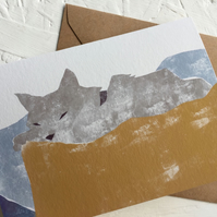 Cat Nap - greeting card