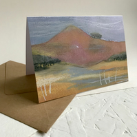 Red mountain - Peak District greeting card