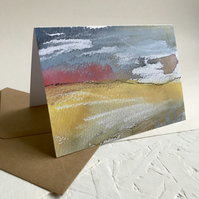 Moorland Grass - Peak District greeting card